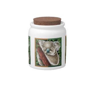Sleeping Koala Candy Jars
