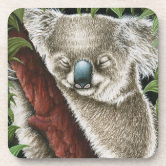 Sleeping Koala Cork Coaster