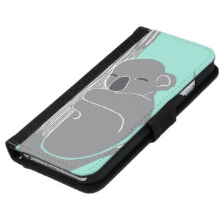 Sleeping Koala Mint Phone Wallet Case