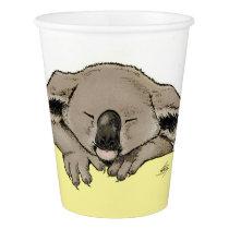 sleeping koala paper cup