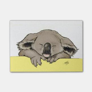 sleeping koala post-it notes