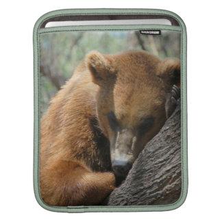 Sleeping Kodiak Bear iPad Sleeve