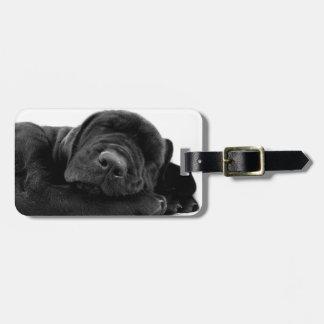 Sleeping Lab Puppy Luggage Tag