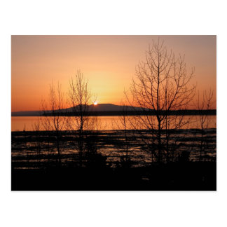 Sleeping Lady Sunset - Anchorage, Alaska Postcard
