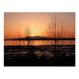 Sleeping Lady Sunset - Anchorage, Alaska Postcard