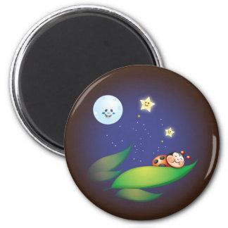 Sleeping Ladybug Magnet