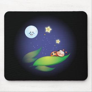 Sleeping Ladybug Mouse Pad