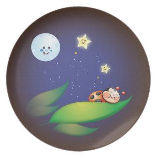 Sleeping Ladybug Plate