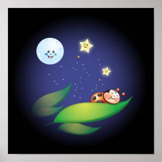 Sleeping Ladybug Poster