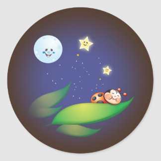 Sleeping Ladybug Stickers