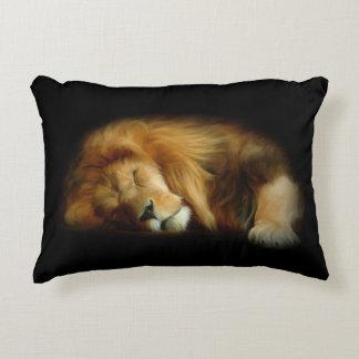 Sleeping Lion Accent Pillow