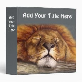 Sleeping Lion Vinyl Binders