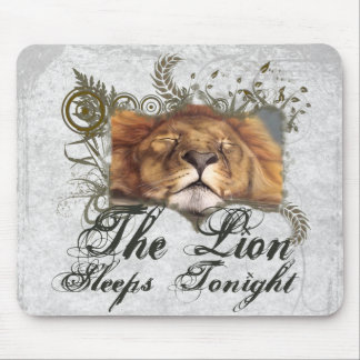 Sleeping Lion Mouse Pad