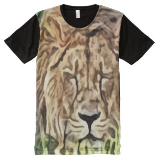 Sleeping Lion painting All-Over Print T-shirt