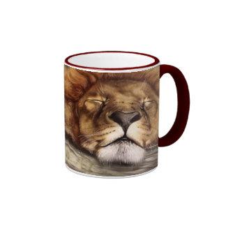 Sleeping Lion Ringer Mug