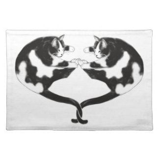 Sleeping Love Cats Placemat