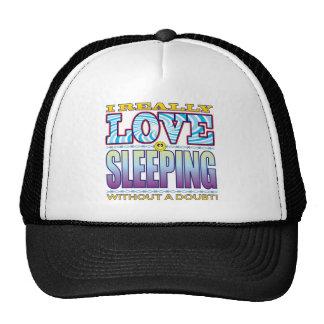 Sleeping Love Face Trucker Hat