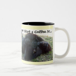 Sleeping Lowland Gorilla Coffee IV Two-Tone Coffee Mug
