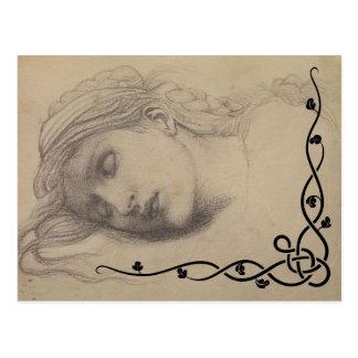 Sleeping Maiden Postcard