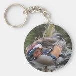 Sleeping Mandarin Ducks Keychains