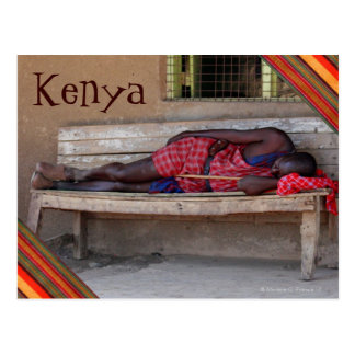 Sleeping Masai Moran of Kenya Post Card