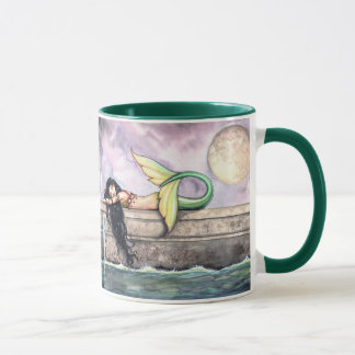 Sleeping Mermaid Mug by Molly Harrison