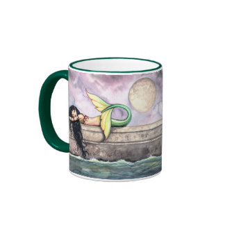 Sleeping Mermaid Mug by Molly Harrison