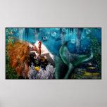 Sleeping Mermaid Poster