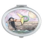 Sleeping Mermaid Watercolor Fantasy Art Mirror For Makeup