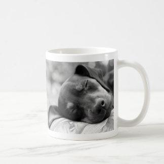 Sleeping Miniature Pinscher dog Coffee Mug
