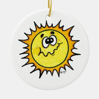 Sleeping Moon and Awake Sun Ornament