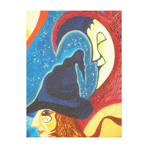 Sleeping Moon Wrapped Canvas Gallery Wrap Canvas