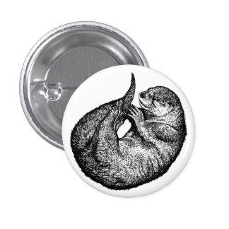 sleeping more otter pinback button