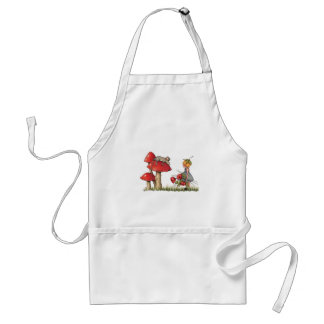 Sleeping Mouse, Toadstool, Child with Poppies Adult Apron