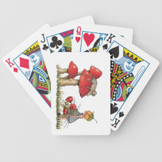 Sleeping Mouse, Toadstool, Child with Poppies Bicycle Playing Cards
