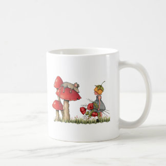 Sleeping Mouse, Toadstool, Child with Poppies Classic White Coffee Mug