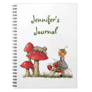 Sleeping Mouse, Toadstool, Child with Poppies Note Books