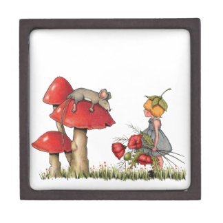 Sleeping Mouse, Toadstool, Child with Poppies Premium Gift Boxes