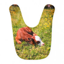 Sleeping Newborn Calf Baby Bib
