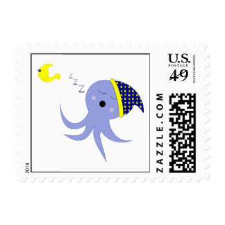 Sleeping Octopus Postage