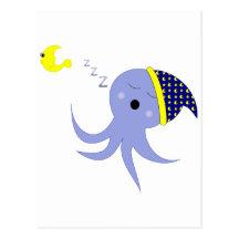 Sleeping Octopus Postcard