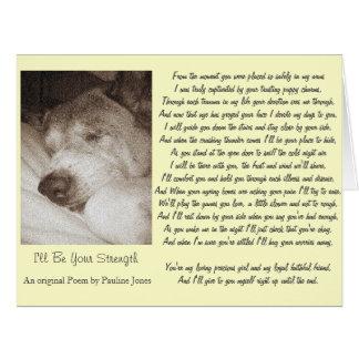 sleeping old akita dog animal sympathy poem big card