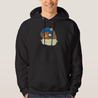 sleeping on pillow cute teddy bear design hoodie