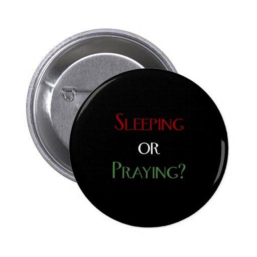 Sleeping or praying - islamic muslim prayer print pin