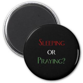 Sleeping or praying - islamic muslim prayer print refrigerator magnet