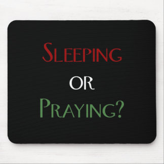 Sleeping or praying - islamic muslim prayer print mouse pad