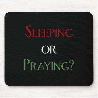 Sleeping or praying - islamic muslim prayer print mousepad