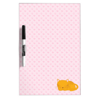 Sleeping Orange Tabby Cat Dry Erase Board