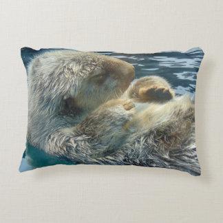 Sleeping Otter Accent Pillow