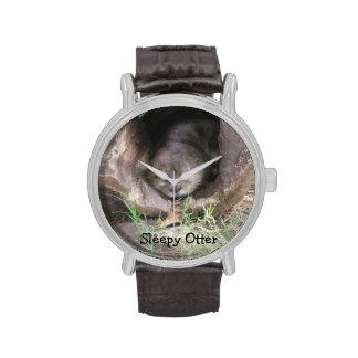 Sleeping Otter Wrist Watch